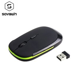 cheap laptops NZ - Cheap Mice 2.4Ghz Wireless Optical Mouse USB Receiver 1200 DPI Ultra Thin Slim Mini Wireless Ergonomically Mouse For Laptop PC Video Game
