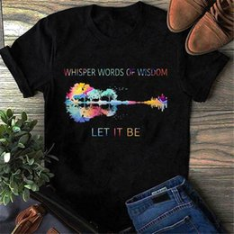 $enCountryForm.capitalKeyWord Australia - Hippie Guitar Whisper Words Of Wisdom Let It Be T Shirt Men Cotton Black S-6Xl Tops New Unisex Funny Tee Shirt