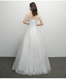 Slim Modern Wedding Dresses Australia - Wedding dress 2019 new Mori tied shoulder-to-shoulder V-collar light wedding dress simple bridal slim French wedding dress skirt