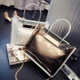 Ladys Pink Handbags Australia - Fashion Designer Handbag Women Clear Luxury Handbag Waterproof Designer Bag Ladys Cross body Totes Bag Wallet Top Quality