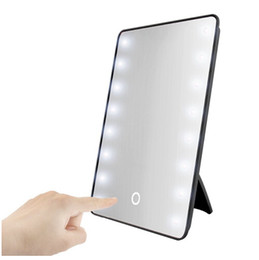 Wholesale Makeup Mirror with LEDs Cosmetic Mirror with Touch Dimmer Switch Battery Operated Stand for Tabletop Bathroom Bedroom Travel