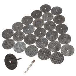 $enCountryForm.capitalKeyWord Australia - Hot 25pc 32mm Resin Cutting Wheel Cut-off Discs Kit +1pc Mandrel For Rotary Tool R06 Drop Ship