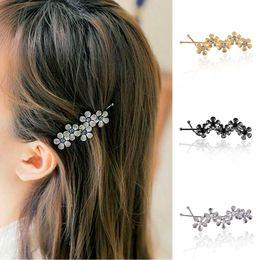 $enCountryForm.capitalKeyWord Australia - New Flower Rhinestone Women Hair Accessories Plum Floral Hair Clip Girls Pins Sweet Wedding Headwear Barrette