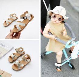 Beautiful Girls Summer Shoes Australia - Summer Style Children Sandals Girls Princess Beautiful Flower Shoes Kids Flat Sandals Baby Girls Roman Shoes