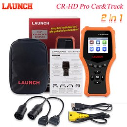 car code obd Australia - CR-HD Pro Car and Truck 2 in1 OBD2 OBD Code Reader Scanner for 24 truck 12V Car Diagnostic tool with SAEJ1979 OBDII J1939