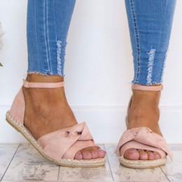 $enCountryForm.capitalKeyWord Australia - Ankle Strap Back Strap Rome Flat Sandal Casual Solid Beach Shoe Butterfly-knot Summer Sandale Femmes 2019