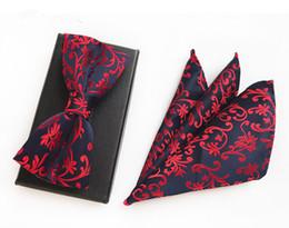 Clásico paisley para hombre diseñador de seda a rayas bolsillo cuadrado corbata pajarita pañuelo corbata corbatas mariposa lotes de dos piezas