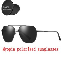 7e5d903e2ef Square Custom Made Myopia Minus Prescription Polarized Lens Sport Polarized  Sunglasses black Mirror Coating Anti-wind Goggle FML