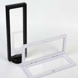 Ring Case Holder Displays Australia - 230x90x20mm Clear PET Membrane box Holder Floating Display Case Earring Gems Ring Jewelry Suspension Packaging Box