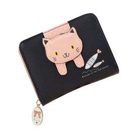 $enCountryForm.capitalKeyWord NZ - Women cute cat wallet small zipper girl wallet brand designed pu leather women coin purse female card holder billetera