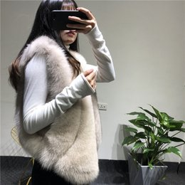 Fox Fur Skins NZ - Cool 2019 Imported Really The Whole Skin Fox Maomajia Five Dynasties Classic Inherit Short Fund Leather And Fur Overcoat