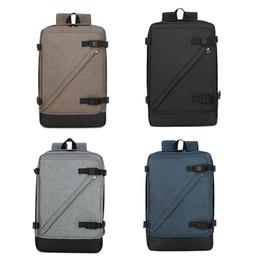 $enCountryForm.capitalKeyWord Australia - Men women travel backpack durable nylon unisex shoulder bag business or leisure laptop carrying bag 4 colors