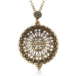 Rhinestone Glasses Chain Australia - Fashion Hot Retro Tree of Life Owl Magnifying Glass Pendant Necklace Lockets Chain Women Fashion Jewelry