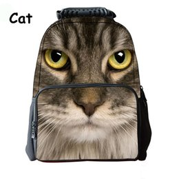 fd6c7cfe12c Cat School Bag Backpacks NZ - iMaySon 3D Animal Cat Face Kid Schoolbag  Unisex Cute Printing