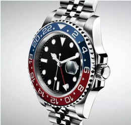 $enCountryForm.capitalKeyWord Australia - 2019 Luxury Noble Basel World New Red and Blue Bicolor GMT Cerachrom Pottery 24Hours Scale Word Men Automatic Movement Dive Watch
