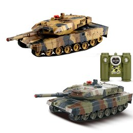 ir tools Canada - 1 24 RC Tank Crawler IR Remote Control Toys Simulation Infrared RC Battle Tank Toy Best Birthday Gifts for Kids Boys