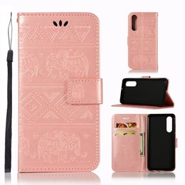 SamSung galaxy e5 flip coverS online shopping - For Huawei P30 Pro Y9 Galaxy S10 Plus S10e Moto G7 E5 Play Elephant Leather Wallet Case Imprint Slot Coque Flip Covers Animal Cartoon
