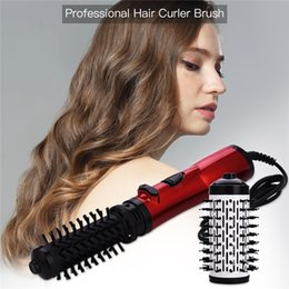 hair styler roller Australia - Multifunctional Hair Dryer & Volumizer Rotating Hair Brush Roller Rotate Styler Comb Ionic Straightening Curling Hot Air Comb