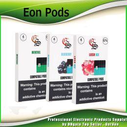 China Top High Quality Eon Pods Cartridges 10 Flavors Sour Apple Mango Blueberry Grape Vape 4pcs Per Pack Portable Battery juul Compatible suppliers