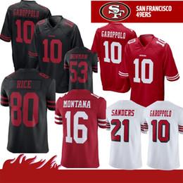 6c7249751 10 Jimmy Garoppolo Jersey 7 Colin Kaepernick San Francisco 56 Reuben Foster  49er 16 Joe Montana 80 Jerry Rice Sherman Young Sanders 2019 new