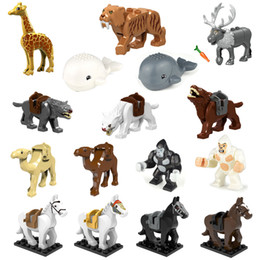 $enCountryForm.capitalKeyWord Australia - Educational Animal Building Blocks Bricks Orangutan Horse Giraffe Cammel Whale Elk Wolf Tiger Mini Figure Toy for Children