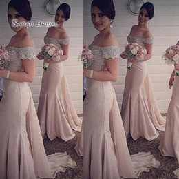 3e563766d 2019 Sexy Mermaid Dress Off Shoulder Beads Tulle Sleeveless Wedding  Occasion Bridesmaid Dress High-end Wedding Boutique