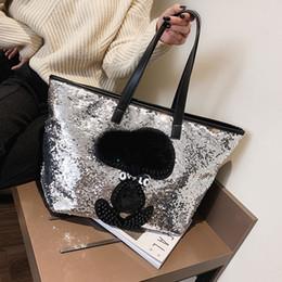 $enCountryForm.capitalKeyWord Australia - Sequin Women Shoulder Bag Female Large Capacity Top-handle Bag Appliques Ladies Handbags National Casual Tote Girl Messenger Bag