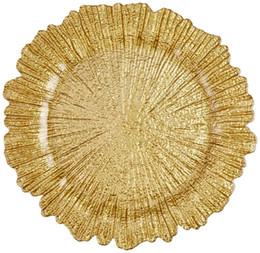 Toptan 13 inç Altın Şarj Tabaklar Altında Düğün Düğün Için Reef Altın Şarj Tabaklar