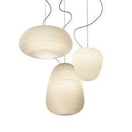 Store energy online shopping - Modern White Glass Pendant Light Fashion Round Suspension Lamp Nordic Parlor restaurant bar cafe Store Home Lighting AL093