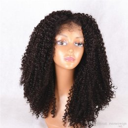 lighting color temperature 2019 - Long Afro Kinky Curly Lace front Fiber Hair Wig For Black Women High Temperature Synthetic Lace Front Wigs With Baby Hai