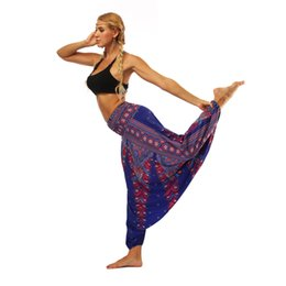 Discount yoga pant pattern free - 2019 new popular personality pattern Wear Indonesian National Style Digital Printed Belly Dance Yoga Pants with Loose Le