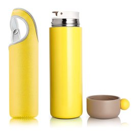 $enCountryForm.capitalKeyWord UK - Newest 450ml Vacuum Cup Thermos Coke Mug Stainless Steel Bottles Insulation Cup Thermoses Fashion Movement Veined Water Bottles