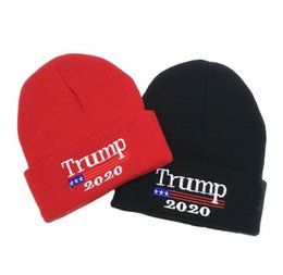 86a3c48d22c1e2 2020 Donald Trump Red Beanies Skullies Hat Re-Election Keep America Great  Embroidery USA Flag MAGA New Cap Cotton winter hat