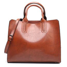 ladies handbags big size 2019 - Leather Handbags Big Women Bag High Quality Casual Female Bags Trunk Tote Spanish Brand Shoulder Bag Ladies Large Size d