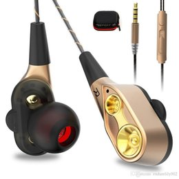 Cell Phones Dhl Shipping Australia - 55x Dhl Shipping X9 Music Earphone Heavy Bass Dual Drive Stereo In-ear Earphones With Microphone Headset Computer Earbuds For Phone Sport