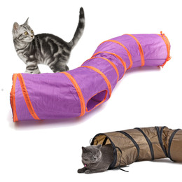 play design UK - Funny Toy Foldable S Shape Pet Cat Balls Crinkle Design House Toys Puppy Rabbit Play Dog Tunnel Tubes Q190523