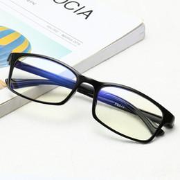 46fb852606a Fashion Square Glasses Frame Men Women Anti-blue Light Radiation Lens Eyeglasses  Frames Computer Optical Fake No degree Eyewear