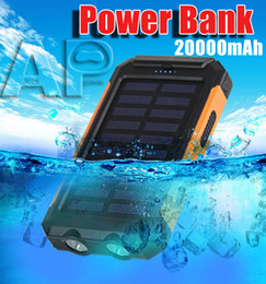$enCountryForm.capitalKeyWord Australia - Top selling Universal 20000mAh Portable Solar power bank battery charger with LED flashlight and compass for Mobile Phones outdoor camping