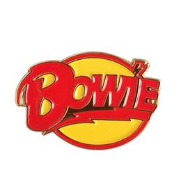 Rock bRooch online shopping - David Bowie Diamond Dogs enamel pin rock roll pop brooch music art badge Bowie fans gift