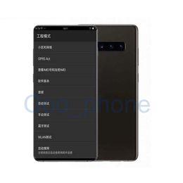 Wifi Touch Cell Phone Unlocked Australia - Free DHL Goophone Fingerprint Unlocked Dual sim Smart Phones S10+ Quad Core1GB 8GB Shown 128G fake 4G LTE 6.4inch HD Cell phones