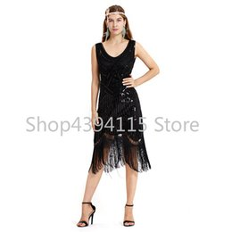 2018 Newest Women s 1920s Vintage Sequin Full Fringed Deco Inspired Flapper  Dress Roaring 20s Great Gatsby Dress Vestidos bf62ca1c2965