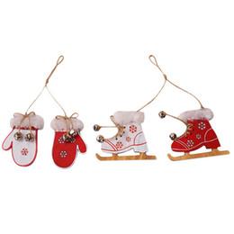 $enCountryForm.capitalKeyWord Australia - Wood Color Christmas Gloves Decorative Pendant Creative Christmas Boots Pendant Ornaments Doll Home Decor