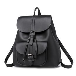 $enCountryForm.capitalKeyWord Australia - Fashion Backpack Women School Bags For Teenager Girls High Quality Pu Leather Mochila Bagpack Female Multifunction Back Pack