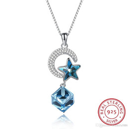 Fashion Jewelry S925 Sterling Silver Luxury Crystal Comes From The Swarovski  Element Star Moon Necklace In Dropshipping With Gift Box ad2ac30d16f5