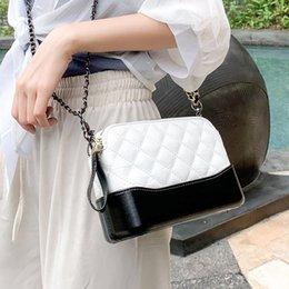 Silver Small Hand Bag Australia - Fashion Small Plaid Chain Shoulder Bag PU Leather Crossbody Messenger Hand Bags Handbags For Women Female Girl Purse Bag Handbag
