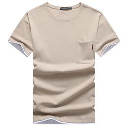 $enCountryForm.capitalKeyWord NZ - Men Plain Round Neck T Shirt Popular Short Sleeve for Male Breathable Slim Fit Classic Solid Cotton T-Shirt Wholesale