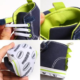canvas shoes kid sole Australia - 2019 Cute Newborn Kids Canvas Sneakers Baby Boys Soft Sole Crib Shoes Prewalkers