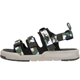 6d34a4dc0b3a New Classics Fashion Designer Men Army Camouflage Slippers Women Black Pink  White Buckle Strap Hook   Loop Sandals Casual Shoes Size 36-44
