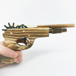 fantasy models NZ - Free shipping Wooden Rubber band gun toys model Rubber band pistol boy 3-8 years old Nostalgic toy gun Wooden rubber band gun