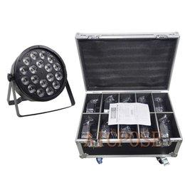 $enCountryForm.capitalKeyWord Australia - 10Pcs lots 18x12W Led Par Lights RGBW 4in1 Flat Par Led With Flight Case DMX512 Disco Lights Professional Stage Equipment